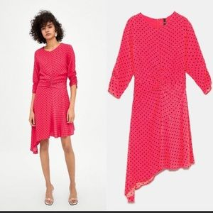Zara Trf polka dot dress
